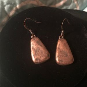 Copper Colored Drop Earrings